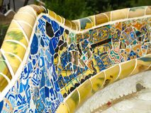 Mosaic in Park Guell Royalty Free Stock Photography