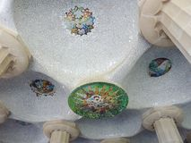 Mosaic, park Guell, Barcelona, Spain Royalty Free Stock Photo