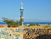 Mosaic in Park Guell Stock Photo
