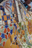 Mosaic in Park Guell royalty free stock photo