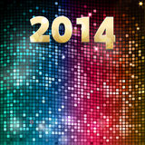 2014 mosaic party background. New Year 2014 Background on Colorful Mosaics Royalty Free Stock Photography