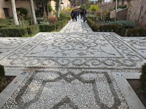 Mosaic Paths Of The Alhambra Palace Gardens Royalty Free Stock Photo