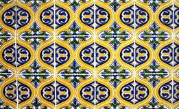 Mosaic pattern. One of the many classic mosaic patterns used for outdoor decoration in Lisbon, Portugal stock images