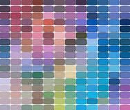 Mosaic pattern background. Bright colorful tiles with white gaps texture. Geometric background in square style stock illustration