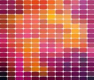 Mosaic pattern background. Bright colorful tiles with white gaps texture. Geometric background in square style vector illustration