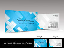 Mosaic pattern background visiting card. Abstract blue mosaic pattern background corporate visiting card Stock Photography