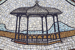 Mosaic pattern Bandstand Stock Photo