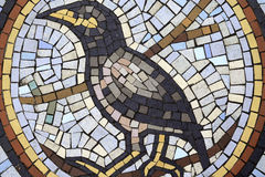 Mosaic pattern Bird Stock Images