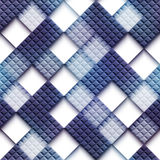 Mosaic pattern with blank rhombus Royalty Free Stock Images