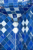 Mosaic pattern in blue Stock Photography