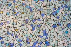 Mosaic pattern blue turquoise gold stock images