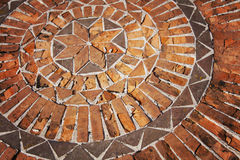 Mosaic pattern in bricks Royalty Free Stock Photography