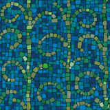 Mosaic pattern in cold colors. Mosaic pattern of seaweed in cold colors Royalty Free Stock Photos