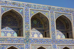 Mosaic pattern of Imam mosque in Esfahan Stock Photos