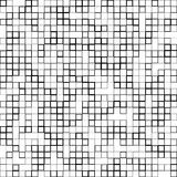 Mosaic pattern with random squares - Black and white geometric t Royalty Free Stock Image