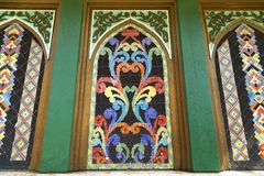 Mosaic pattern on the wall of the Golden Mosque, Manila. Close up royalty free stock photography