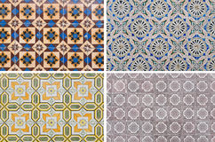 Mosaic pattern wall tiles Royalty Free Stock Image