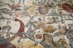 Mosaic of Piazza Armerina Stock Image