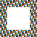 Mosaic picture frame made of colorful squares with shadow Royalty Free Stock Image