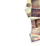 Mosaic with pictures of different scenic and landscapes. collage with retro effect Royalty Free Stock Photography