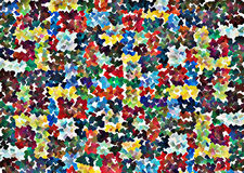 Mosaic pieces in various colors Royalty Free Stock Images