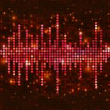 Mosaic pink equalizer Stock Image