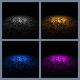 Mosaic color platform for abstract background stock illustration
