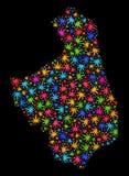 Mosaic Podlaskie Voivodeship Map of Colorful Cannabis Leaves vector illustration