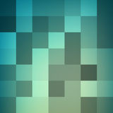 Mosaic polygon pattern. Azure gradient . Mosaic polygon pattern. Azure gradient background of squares. Geometric backdrop of equal tiles. Vector illustration Stock Photos