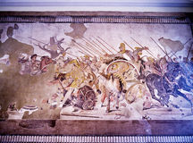 Mosaic from Pompeii in Naples Italy Royalty Free Stock Images