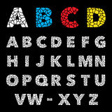 Mosaic puzzle alphabet set. Vector design Royalty Free Stock Images