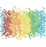Mosaic rainbow Stock Photo