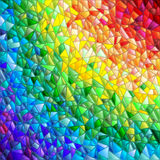 Mosaic rainbow background, simulated cracked glass Stock Photos