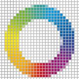 Mosaic of rainbow colors spectrum circle Royalty Free Stock Image