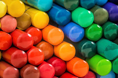 Mosaic of rainbow pencils. Background of colorful rainbow wooden pencils mosaic Royalty Free Stock Photo