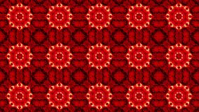 Mosaic in red color. In backgrounds stock video
