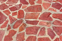 Mosaic Red Stone Road Royalty Free Stock Photography