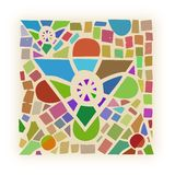 Gnoza. Mosaic of the Reiki symbol GNOZA Stock Images