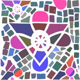 Gnoza. Mosaic of the Reiki symbol GNOZA Royalty Free Stock Photography
