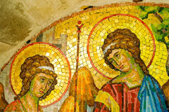 Mosaic at Rezevici monastery, Montenegro. Detail of mosaic at the  church of Uspenje Bogorodice, Rezevici monastery, Montenegro Stock Photography