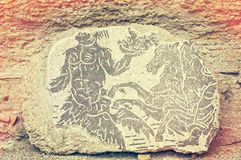 Mosaic in the Roman Baths of Caracalla - Rome Italy Stock Images