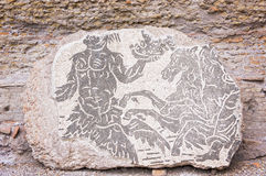 Mosaic in Roman Baths of Caracalla - Rome Italy Royalty Free Stock Images