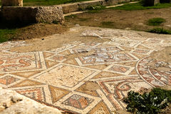 Mosaic, Roman ruins in the city of Jerash Royalty Free Stock Photo