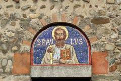 Mosaic on a romanesque church Stock Photos