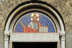 Mosaic on a romanesque church Stock Image