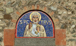 Mosaic on a romanesque church Royalty Free Stock Photography