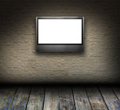 Mosaic Room Interior With LCD Tv Stock Photography