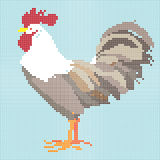 Mosaic rooster Royalty Free Stock Image