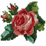 Mosaic rose.  illustration Royalty Free Stock Images