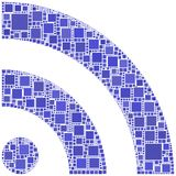 Mosaic of RSS symbol Stock Photography